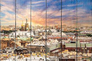 Петербург, вид на крыши и Спас-на-Крови
