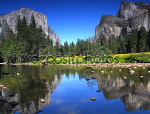 Вид на Эль-Капитан в Национальный парк Йосемити