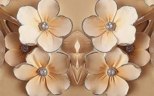 Цветочки со стразами