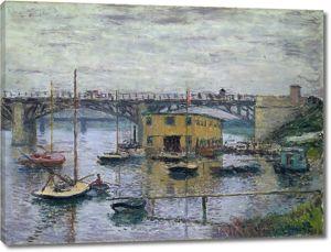Моне Клод. Мост в Аржантее. Пасмурный день, 1876