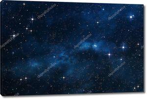Синий фон туманность космоса