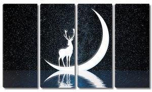 Олень в ночном небе
