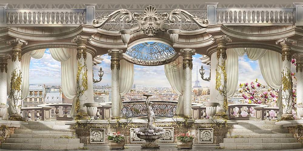 Фотообои «Зал с колоннами», купить в интернет-магазине «Первое Ателье»™