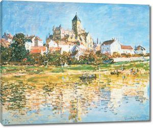 Моне Клод. Ветей, Церковь, 1880