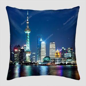 Шанхайский горизонт ночью