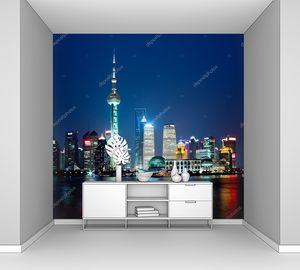 Шанхайский берег ночью