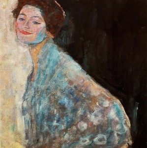 Климт Густав. Портрет дамы в голубой шали