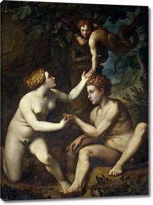 Факкетти  Пьетро (копия Сальвиати). Адам и Ева получают запретный плод