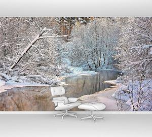 Зимний пейзаж с рекой