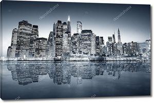 Big apple после захода солнца - Нью-Йорк экономных