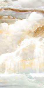 Изображение водопада на срезе камня