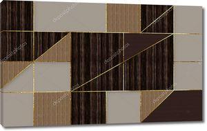 Темная мозаичная плитка в сером, бежевом и коричневом