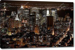 Ночью в Нью-Йорк, Манхэттен
