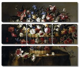Хуан де Арельяно. Корзина с цветами