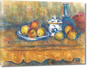 Поль Сезанн. Яблоки, графин и сахарница