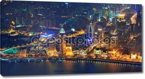 Шанхай воздушные в сумерках