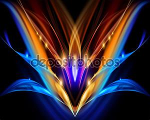 Абстрактный светящийся цветок
