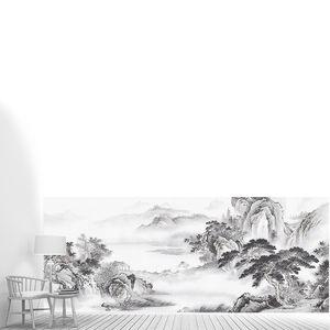 Пейзаж в черно-белом цвете