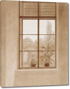 Фридрих Каспар Давид. Окно с видом на парк