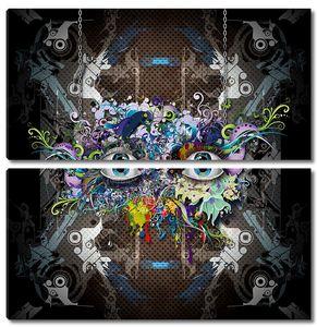 Граффити с глазами