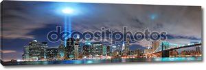 Панорама ночного Нью-Йорка