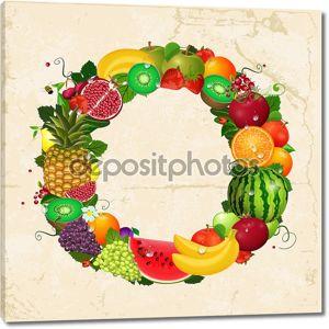 Открытка из фруктов