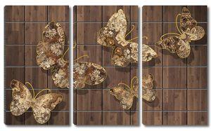 Бабочки на плитке