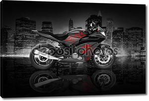 современный спортивный мотоцикл