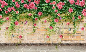 Стена с розами