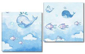 Киты и дельфины в облаках