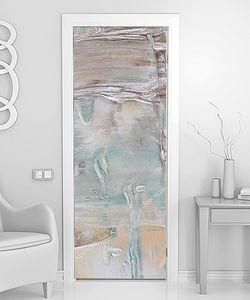 Разводы краски на двери