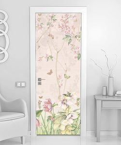 Цветочный фон в китайском стиле