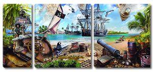 Пиратская бухта, вид на корабли