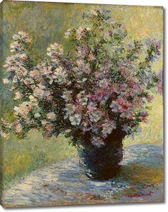 Моне Клод. Ваза с цветами Мальвы, 1880