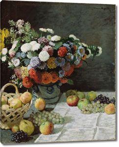 Моне Клод. Цветы и фрукты, 1869