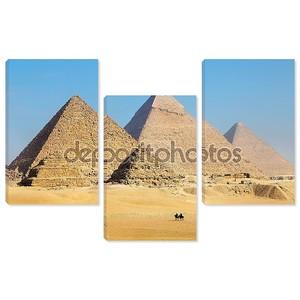 Вид пирамиды вблизи города Каира в Египте