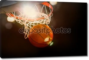 баскетбол происходит через корзину