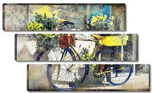 Винтажный велосипед с цветами