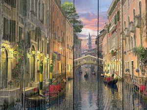 Венеция вечер каналы