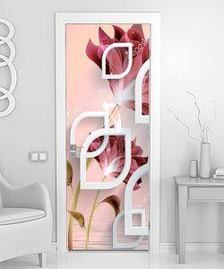 Листообразные рамочки с цветами