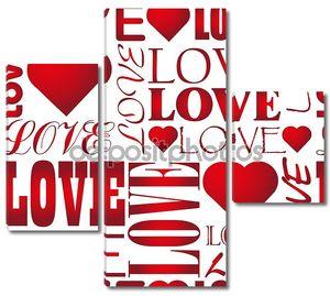Бесшовные любовь сердце узор вектор