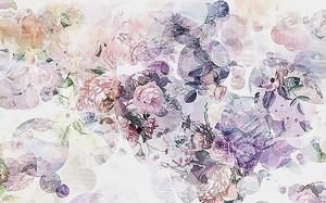 Цветочный пестрый фон