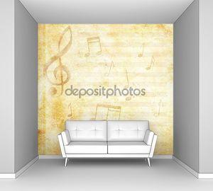 Музыкальный нотный фон