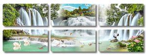 Веерный водопад