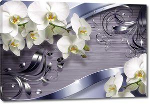 Орхидеи с металлическими стружками