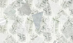 Отпечатки листьев с треугольниками