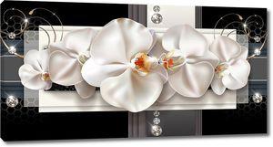 Бутоны орхидей со стразами