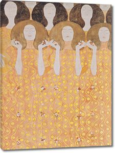 Густав Климт. Бетховенский фриз. Хор ангелов (фрагмент)