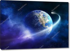 Комета прохождение планеты Земля