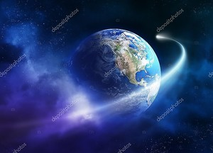 Комета перемещение прохождение планеты Земля